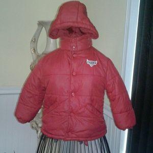 Disney Cars winter puffer boys coat